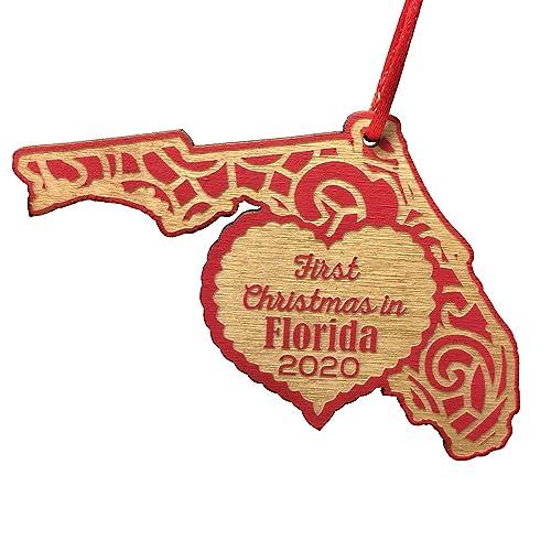 Christmas At   Florida 2020 Amazon.com: First Christmas in Florida 2020 Christmas Ornament