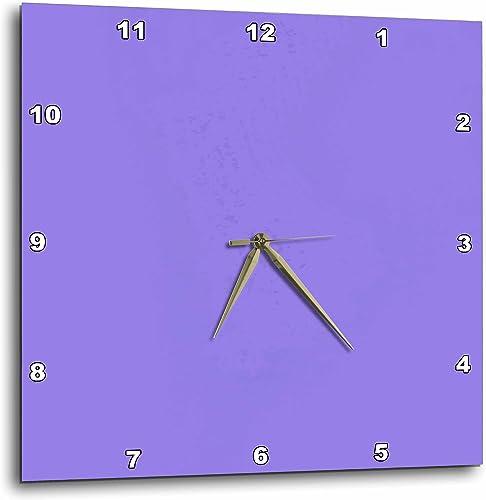 3dRose DPP_39315_2 Lavender Shades Design Colors Art Wall Clock, 13 by 13-Inch