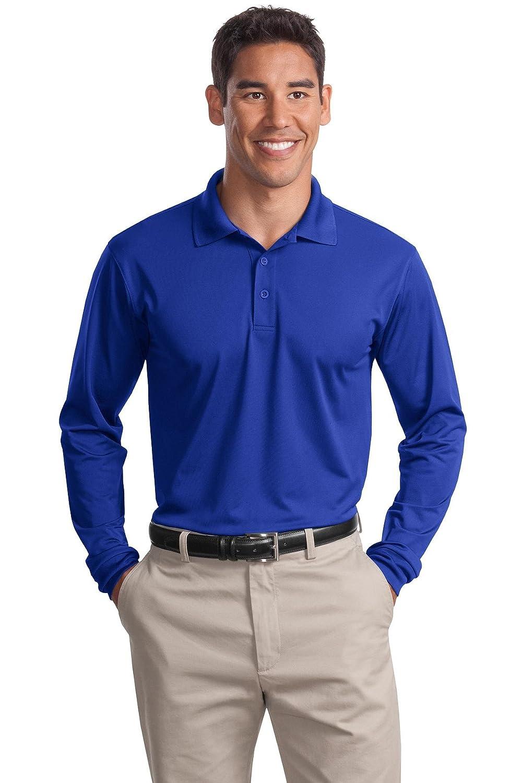 Sport-Tek Mens Long Sleeve Micropique Sport Wick Polo