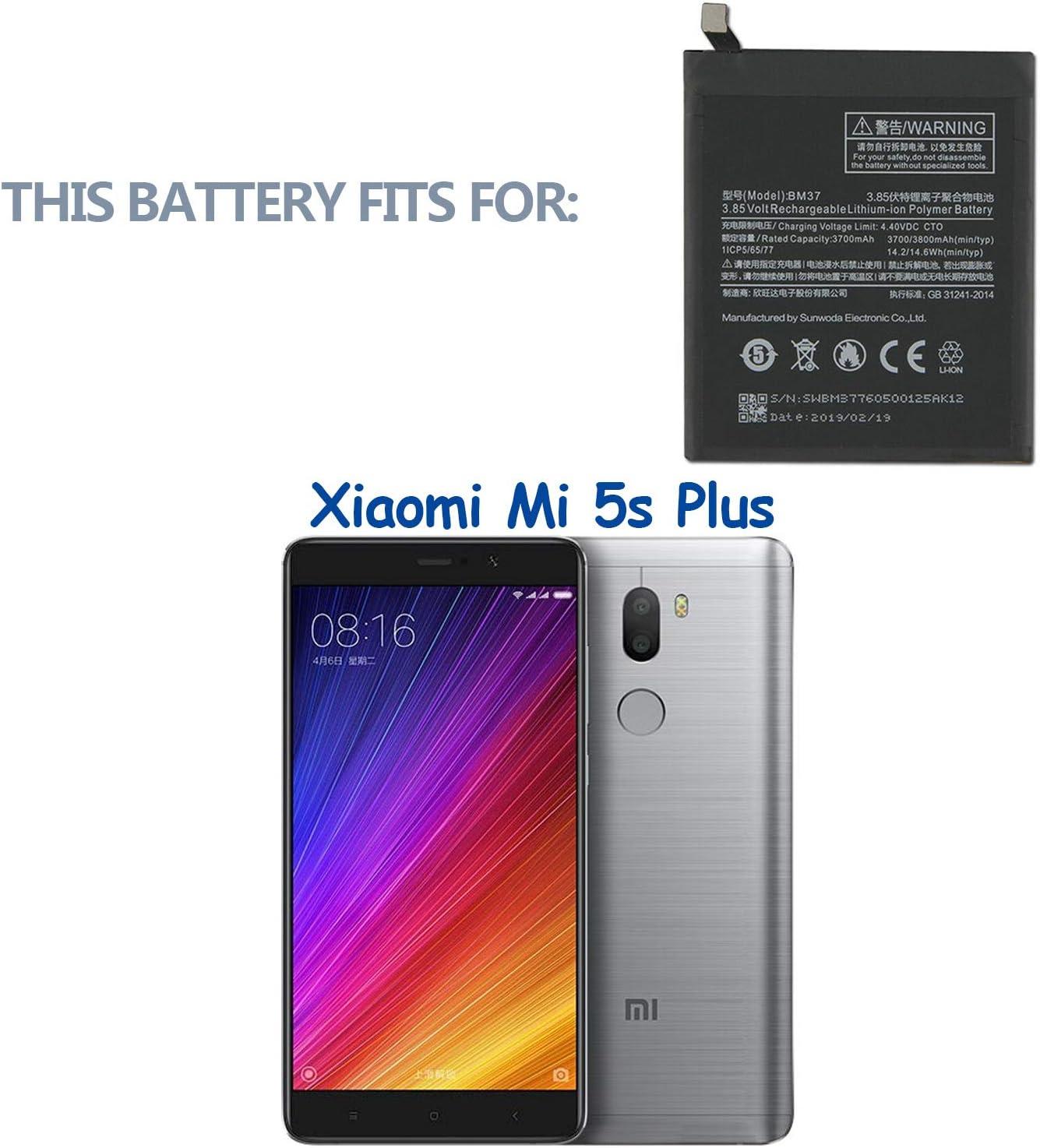 Swark BM37 - Batería de Repuesto Compatible con Xiaomi Mi 5s Plus ...