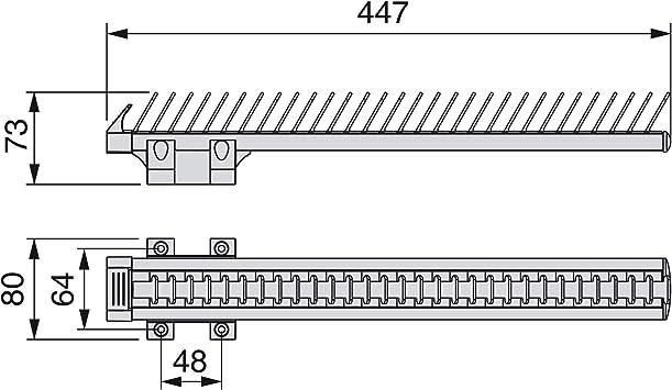 anodizado Mate y Negro. Corbatero Lateral Extraible para Armario EMUCA Aluminio y pl/ástico