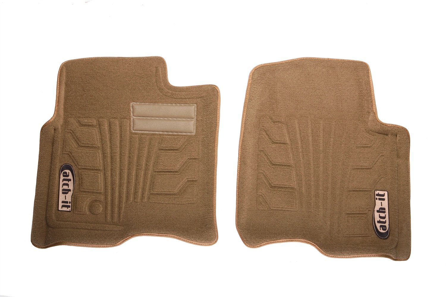 Set of 2 Lund 583058-T Catch-It Carpet Tan Front Seat Floor Mat