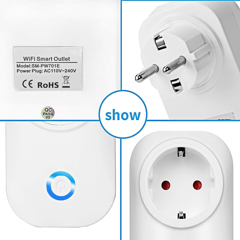 funci/ón de temporizaci/ón Control remoto Jinvoo Z/ócalo inteligente Wifi funciona con Alexa y Google Home No Requiere Concentrador (2 Packs)