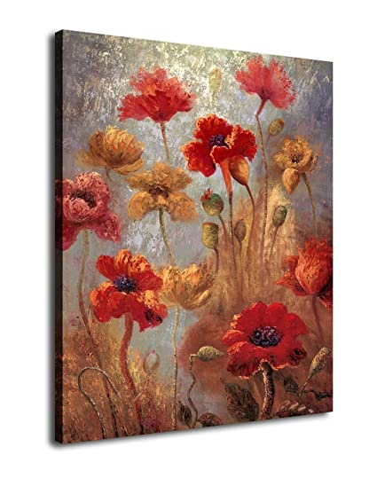Amazon canvas wall art abstract flowers painting large canvas canvas wall art abstract flowers painting large canvas art prints 30quot x 40quot mightylinksfo