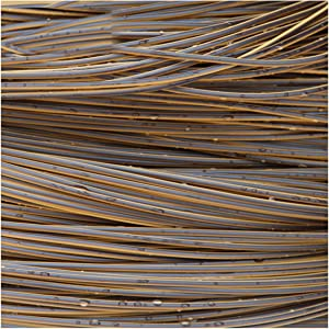 Queenbox 3mmx10m Gradient Round Rattan Weaving, Synthetic Rattan Repair Knit Material Plastic Rattan for DIY Home Furniture, Chair Table, Storage Basket