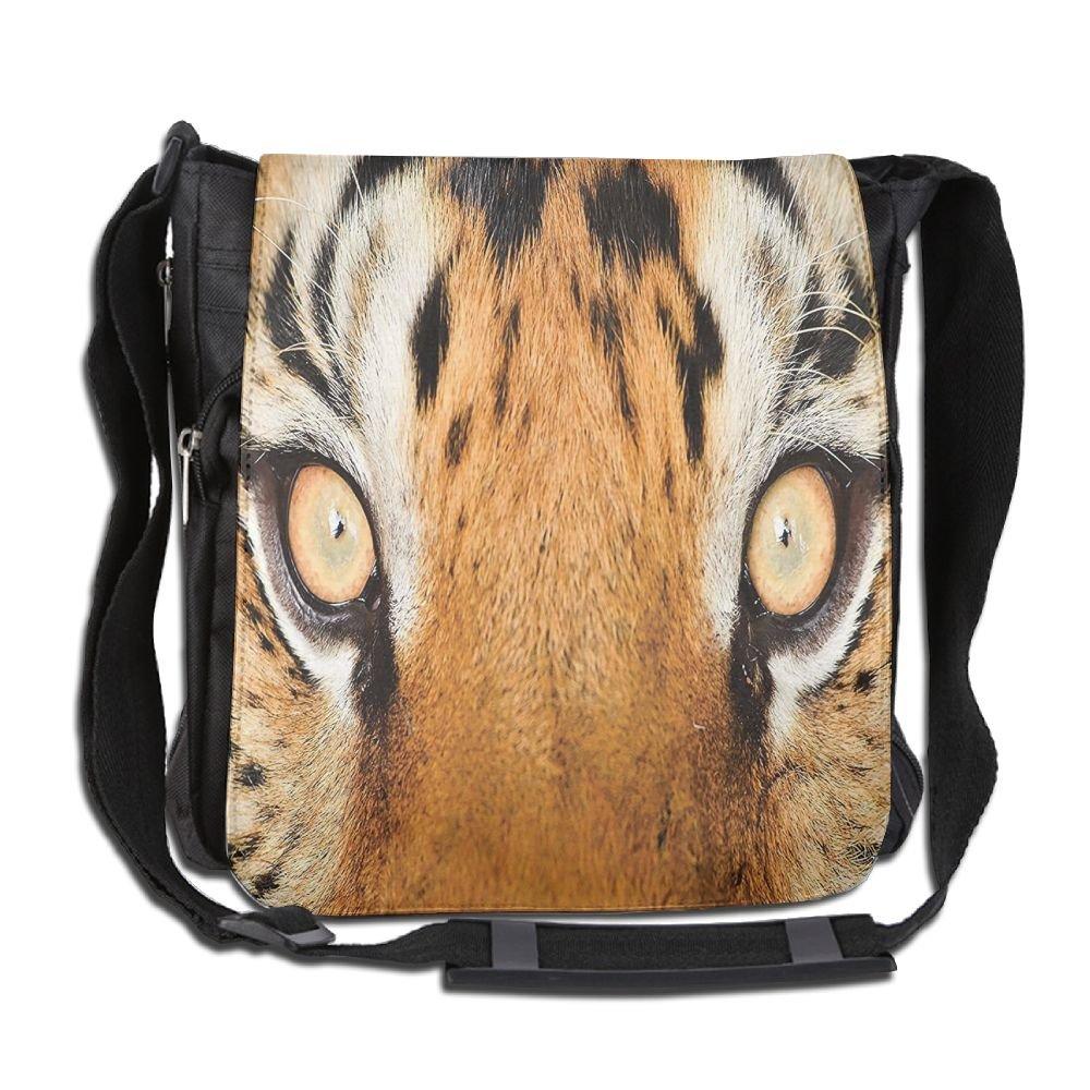 Lovebbag Close-up Tiger Eyes Hunter Look Feline Camouflage Coat Animal With Shady Colors Crossbody Messenger Bag
