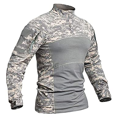 a72929331 TACVASEN Shirt Men Assault Army Camouflage Long Sleeve Shirt Outdoor Top ACU