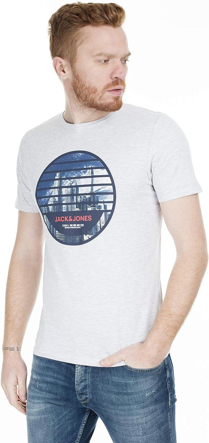 JACK /& JONES Herren Jjcamoman Tee Ss Crew Neck T-Shirt