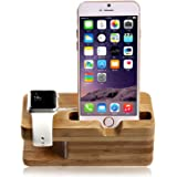 Apple Watch Stand, lamavido Apple watch il legno posizione di Bambù di ricarica Docking Station per Apple Watch e iPhone 5 / 5S / 5C / 6/6 PLUS / 6S / 6S