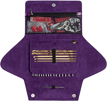 addiCLICK LACE LONG  Case with 8 pairs of needle tips and accessories 760-7