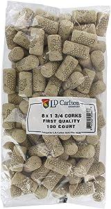 #8 x 1-3/4 First Quality Straight Wine Corks 100/Bag