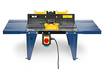 Wolf Router Table Stand with Die Cast Aluminium Top/Spindle Moulder