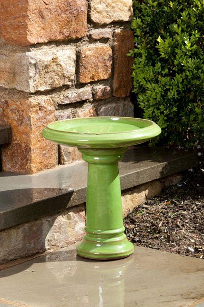 Alfresco Home 38-8601 Ischia Birdbath, Chartreuse Green by Alfresco Home