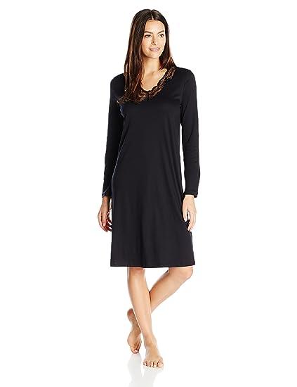 HANRO Women s Valencia Long Sleeve Gown 76988 at Amazon Women s ... 22ab35fbf