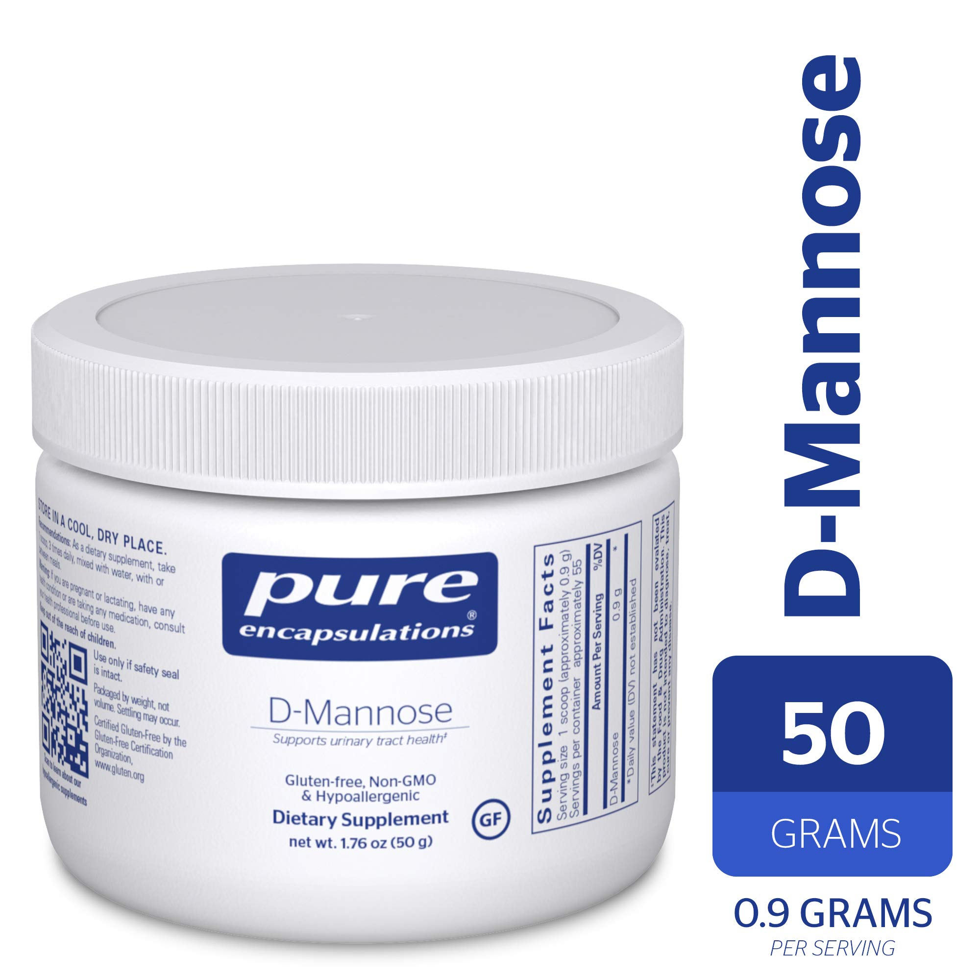 Pure Encapsulations - d-Mannose Powder - Hypoallergenic Supplement for Urinary Tract Support* - 50 Grams