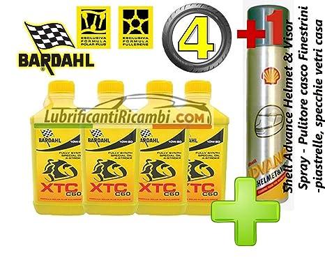 4 LT aceite motor moto 4t 10W50 BARDAHL BARDHAL XTC C60, 100% fibra hueca