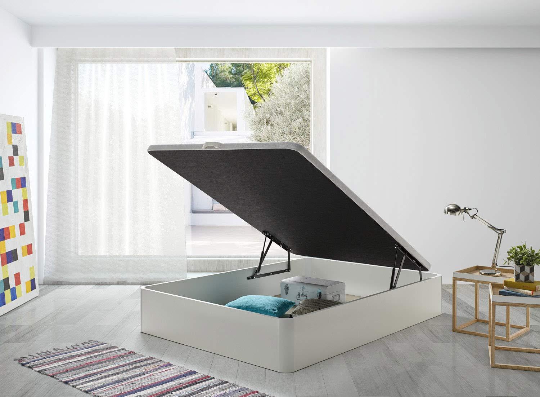 SERMAHOME- Canapé Modelo Teja Color Blanco con Base tapizada 3D. Altura del cajón: 32 cm. Medida 90 x 190 cm.: Amazon.es: Hogar