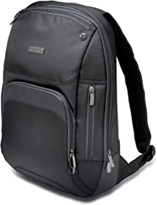 Kensington Triple Trek Slim Backpack for MacBooks, Chromebooks, Tablets & Ultrabooks up to 13-Inch-14-Inch (K62591AM), Black
