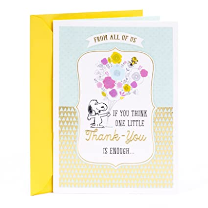 Amazon hallmark administrative professionals day greeting card hallmark administrative professionals day greeting card peanuts snoopy thank you from all m4hsunfo