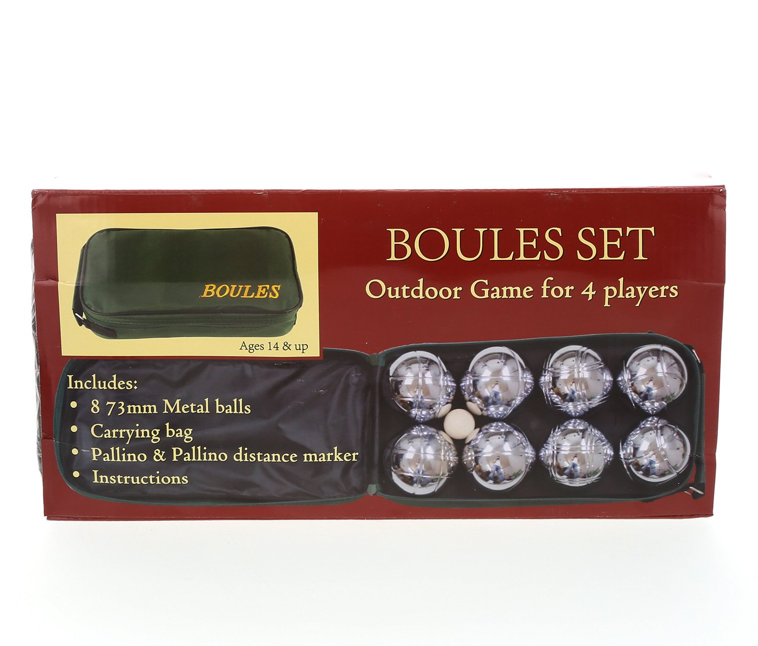 Mozlly Multipack - Classic Game 8 Ball Bocce Set with Canvas Storage Bag - 73mm Regulation Size - Petanque Game (Pack of 6) - Item #S119029_X6