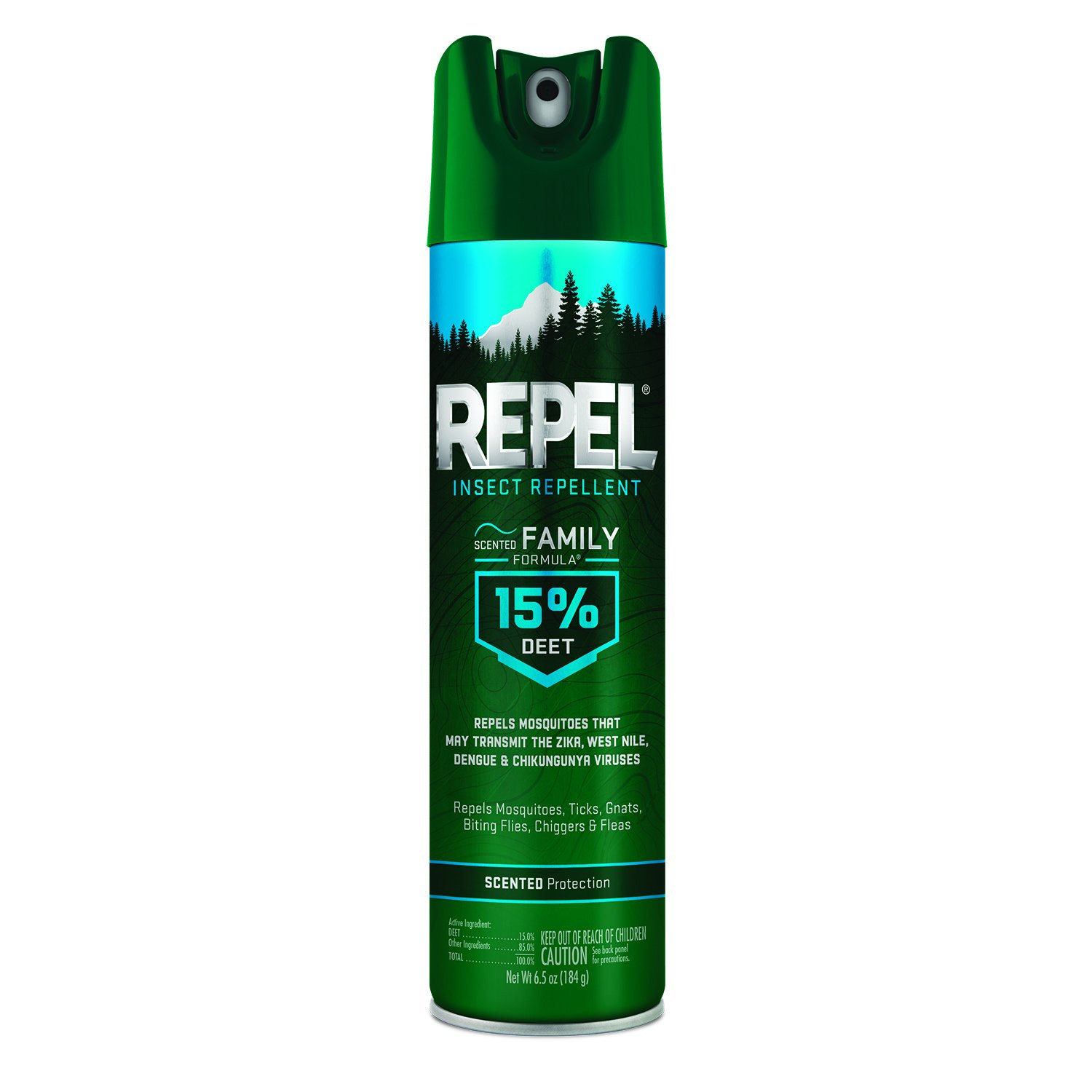 REPEL HG-64136 Scented Family Formula Aerosol, 6.5-Ounce, 6-Pack