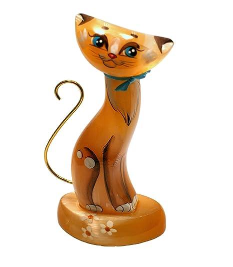 MyHomeLux Selenit - Figura de Gato (11,5 cm de Alto), Color