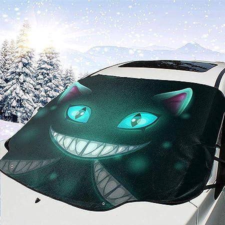 Tridge Dunkelheit Cheshire Cat Auto Windschutzscheibe Schnee Eis Frost Abdeckung Sonnenschutz Schutz Anit Uv Universal Fit Meisten Auto Lkw Geländewagen Auto
