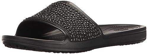 7e3524270993 Crocs Women s Sloane Embellished Slide Sandal  Amazon.ca  Shoes ...