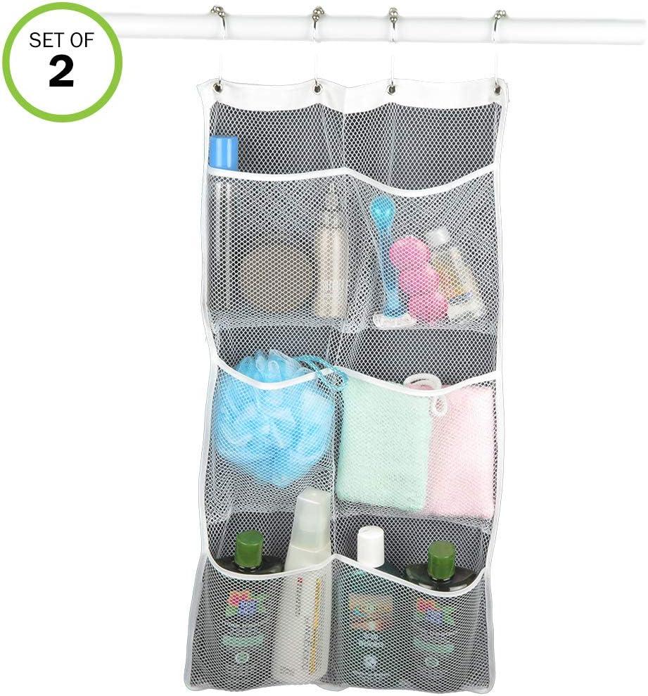 Evelots Shower Caddy-Organizer-Mesh-6 Pockets-Shampoo-Soap-Razor-Quick Dry-Set/2