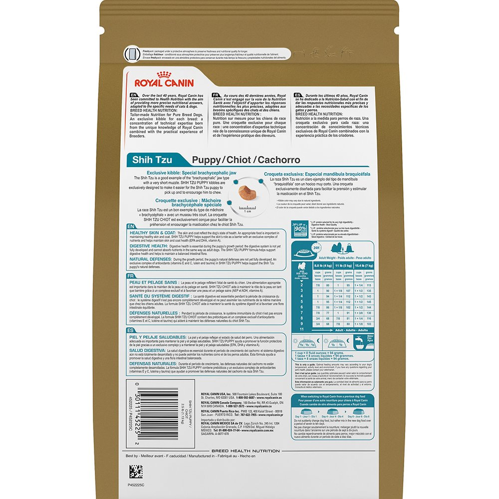 Royal Canin BREED HEALTH NUTRITION Shih Tzu Puppy dry dog food, 2.5-Pound by Royal Canin (Image #4)