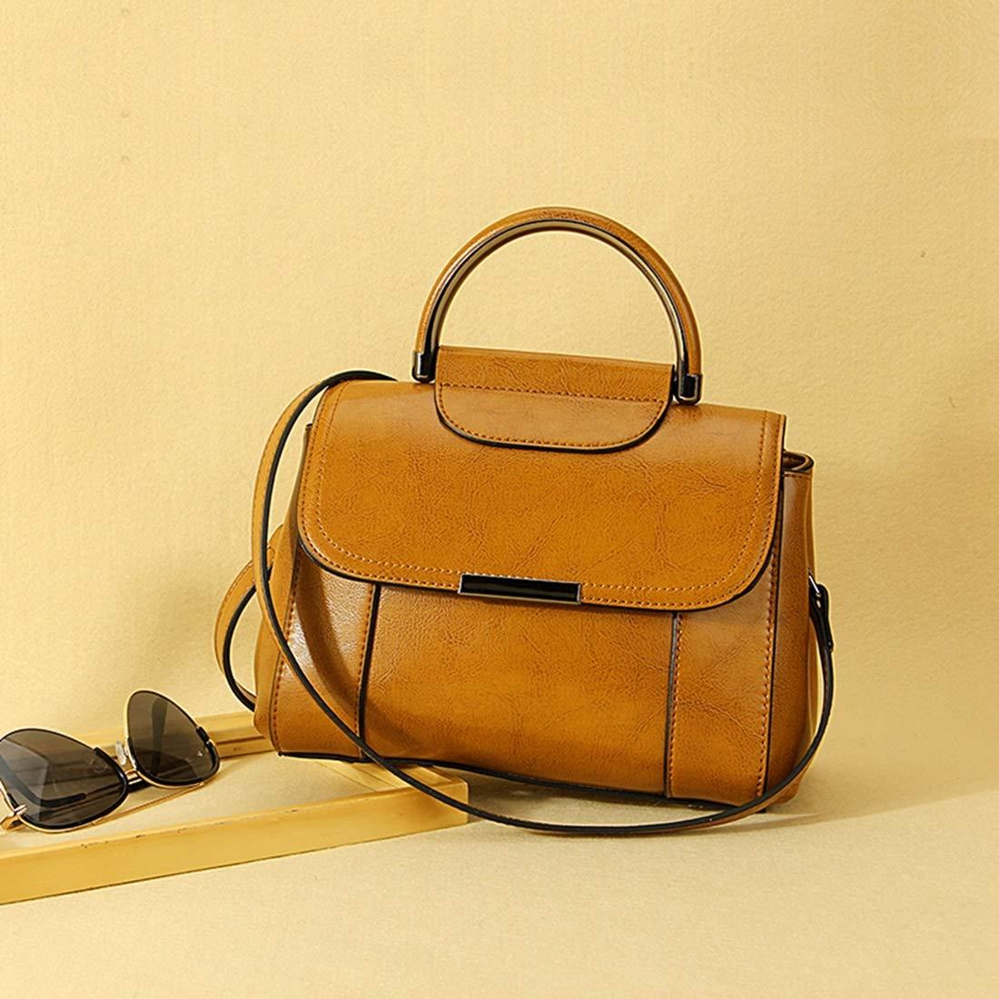 YJIU Väska Mode Väska Kvinnor Liten Läder Handväska Bärkning Axelväska (Färg: Offvit) svart