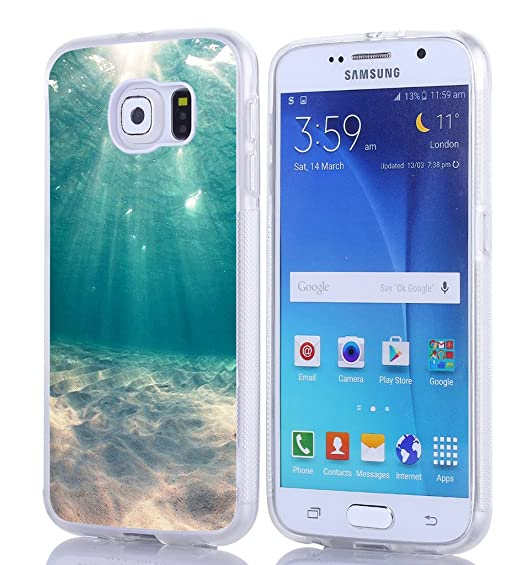 S6 Case - Case for Galaxy S6 - Replacement Cover for Samsung S6 - Blue  Clean Ocean Water (Slim Flexible TPU Protective Silicone)