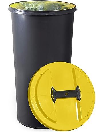 KUEFA BSC6 60L Mülleimer/Müllsackständer / Gelber Sack Ständer (Gelb)