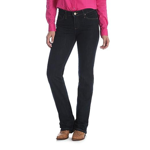 d3ec0e73b70 Wrangler Women s Q-Baby Mid Rise Boot Cut Ultimate Riding Jean at ...