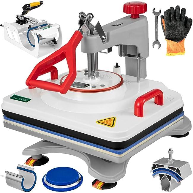 Best Multifunction Heat Press Machine: VEVOR 5 in 1 Heat Press Review