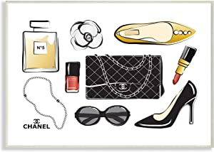 Stupell Industries Deluxe Designer Fashion Accessories Glam Style, Design by Martina Pavlova Wall Plaque, 13 x 19, White