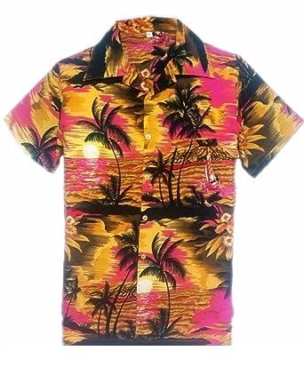 cd0b2070c MENS HAWAIIAN SHIRT STAG BEACH HAWAII ALOHA PARTY SUMMER HOLIDAY FANCY BEACH  PALM (XL, PINK BEACH PALM): Amazon.co.uk: Clothing