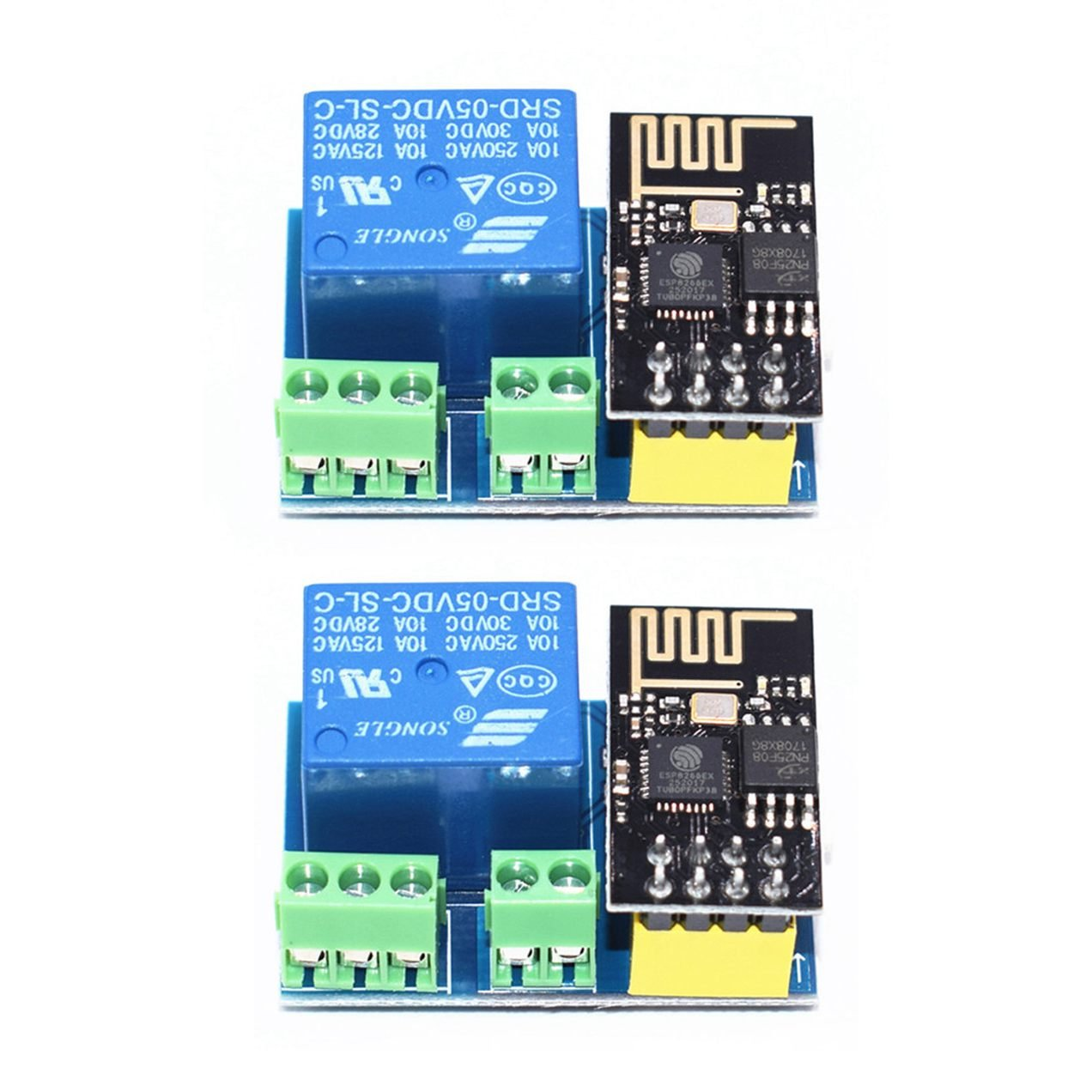 WOVELOT Modulo de Rele WiFi ESP8266 ESP-01S 5V Interruptor de Control Remoto Inteligente para el hogar para Arduino Aplicacion de telefono Modulo de WiFi inalambrico ESP01S