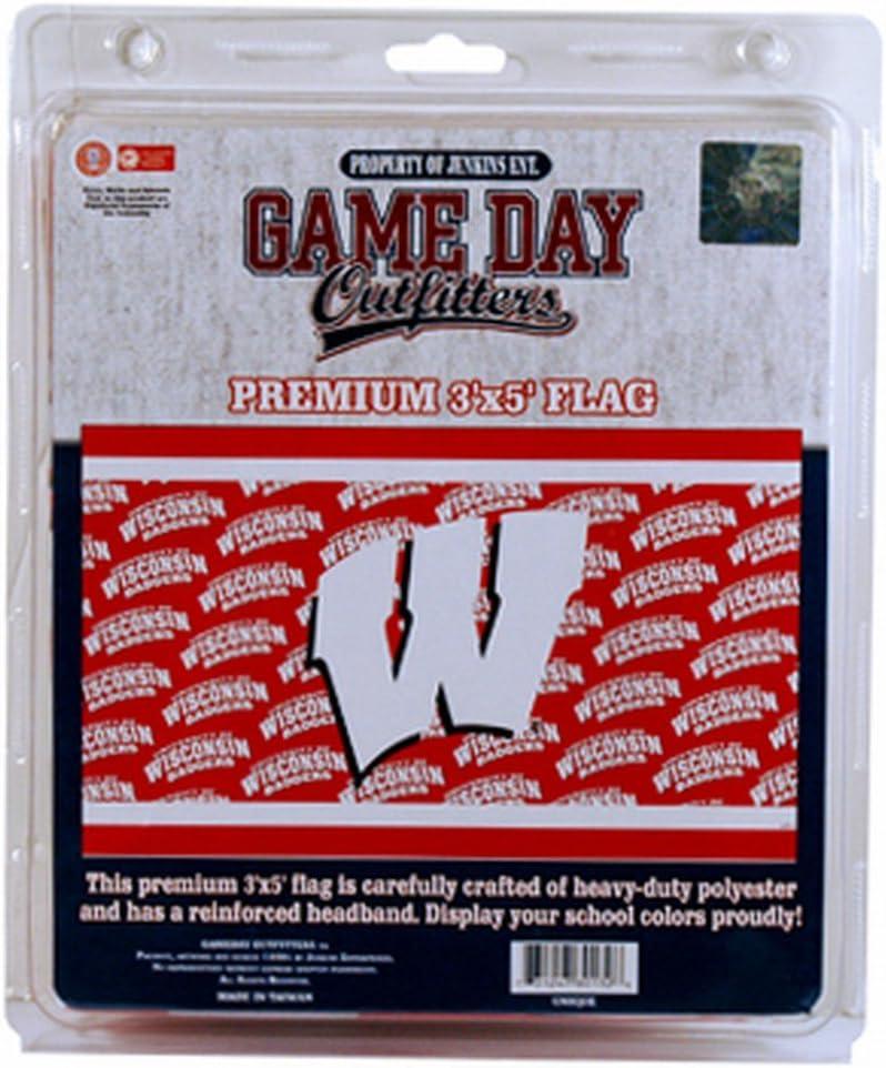 NCAA Wisconsin Badgers 3 x 5-Foot Wrap Flag