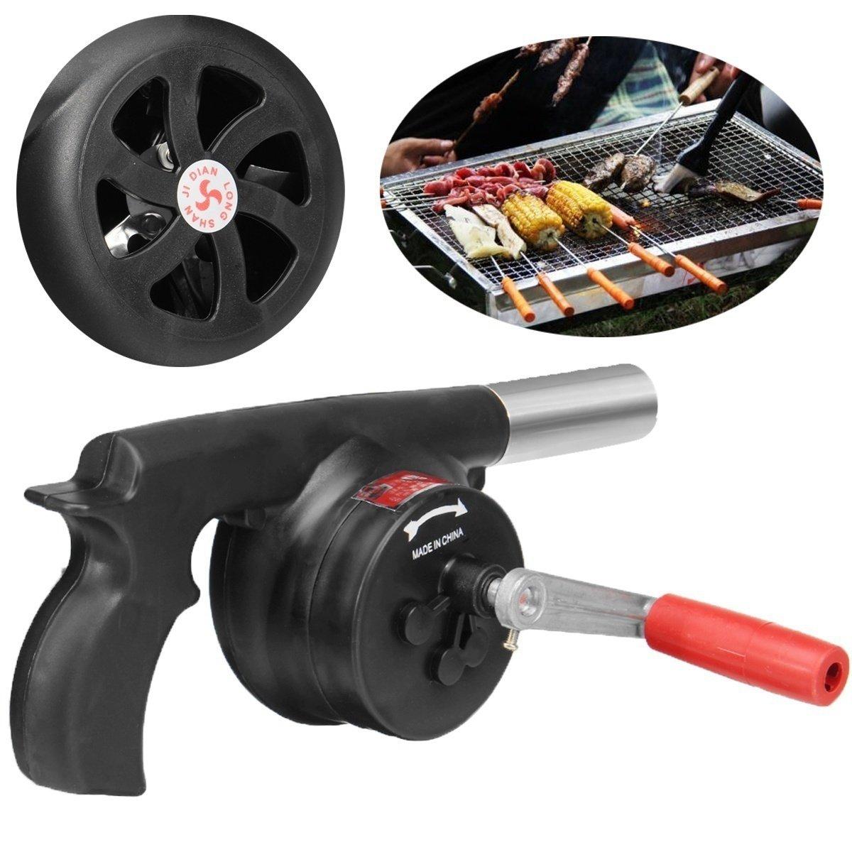 Manuelle Luftgebläse Handkurbel Kochen Grill Fan für Barbecue Feuer Kunststoff