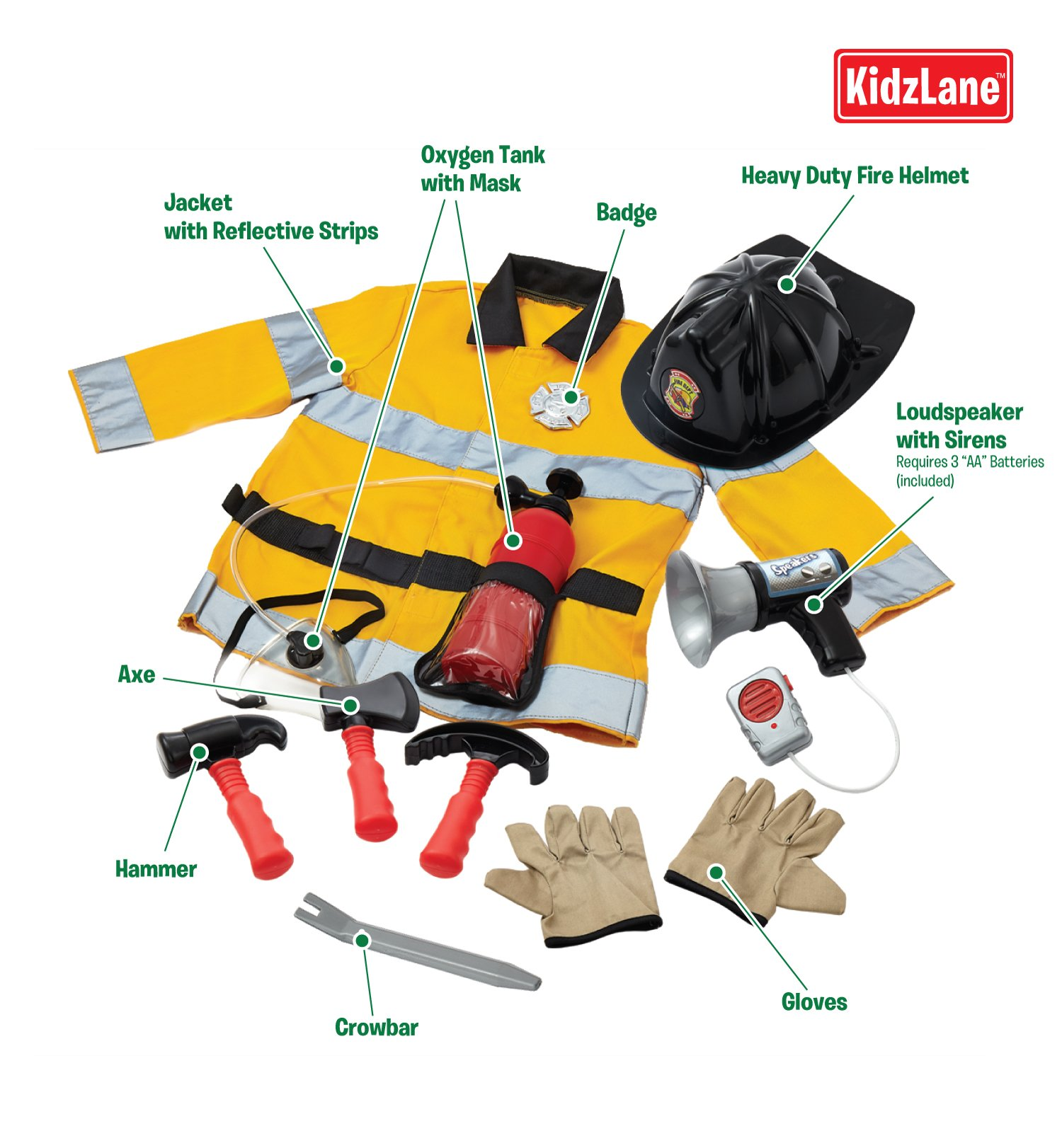 Pretend Play Firefighter Set by Kidzlane (Image #3)