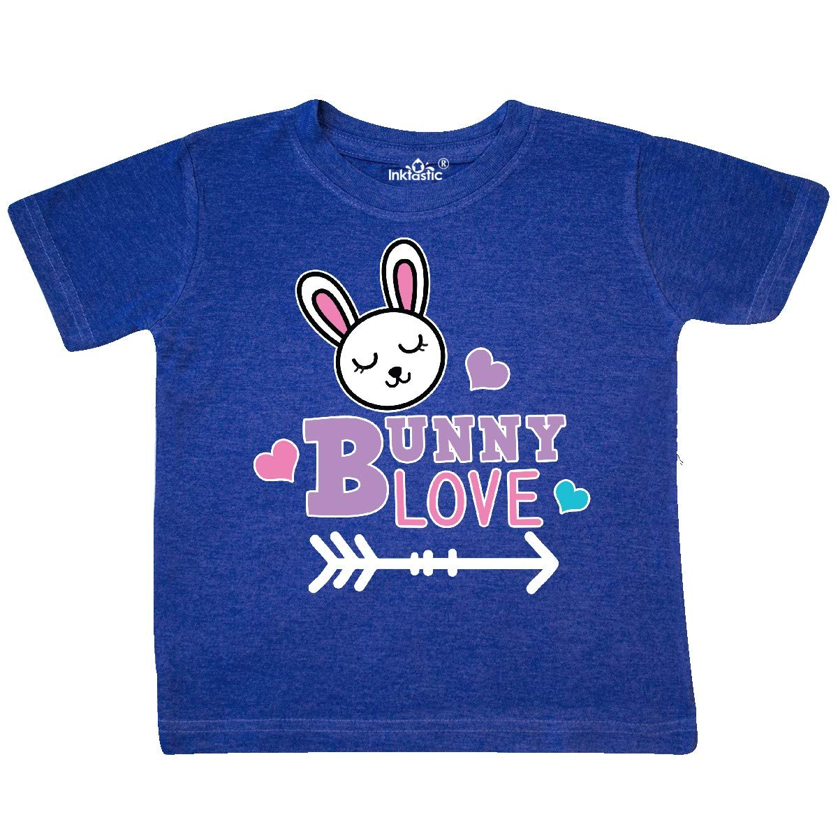 inktastic Bunny Love with Cute Bunny Face Hearts and Arrow Toddler T-Shirt