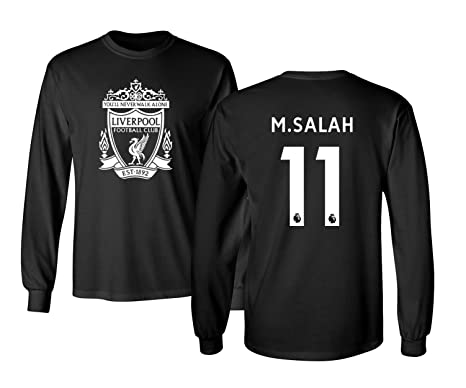 a2c8411fc Tcamp Liverpool  11 Mohamed SALAH Premier League Men s Long Sleeve T-Shirt ( Black