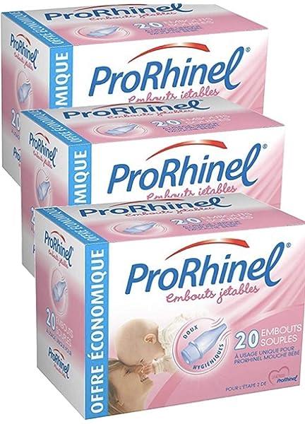 PRORHINEL - Recambios desechables para aspirador nasal (20 unidades) Talla:1 Mouche Bébé: Amazon.es: Salud y cuidado personal