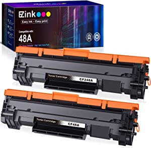 E-Z Ink (TM) Compatible Toner Cartridge Replacement for HP 48A CF248A to use with Laserjet Pro M15w, Laserjet Pro M29w, MFP M28w, M28a, M29a M30w M31w M15a M16a M16w Printer (Black, 2 Pack)
