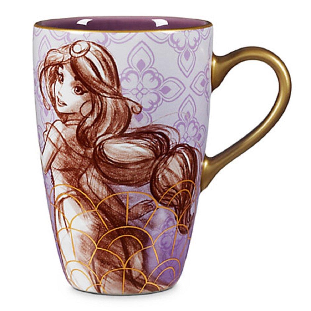 Amazon aladdin coffee mugs - Disney Store Art Of Jasmine Coffee Mug Lavender Aladdin New Amazon Co Uk Kitchen Home