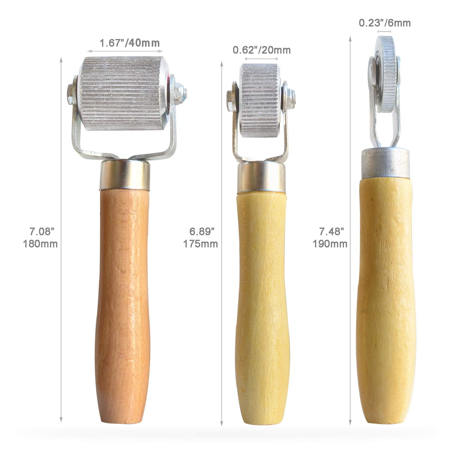 Automotive Sound Deadener Application Installation Metal Roller with Wooden Handle Interior Accessories Sound Noise Proof Insulation Tool ITEQ 3 Pcs Car Sound Deadening Roller