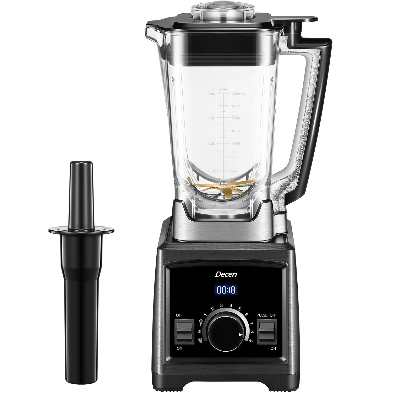 Decen Smoothie Blender, Professional Blenders, High Speed Blender, 70 Oz BPA-Free Tritan Pitcher, 1450W, 6 Titanium Stainless Steel Blades for Ice, Soup, Nuts & Butter - Black