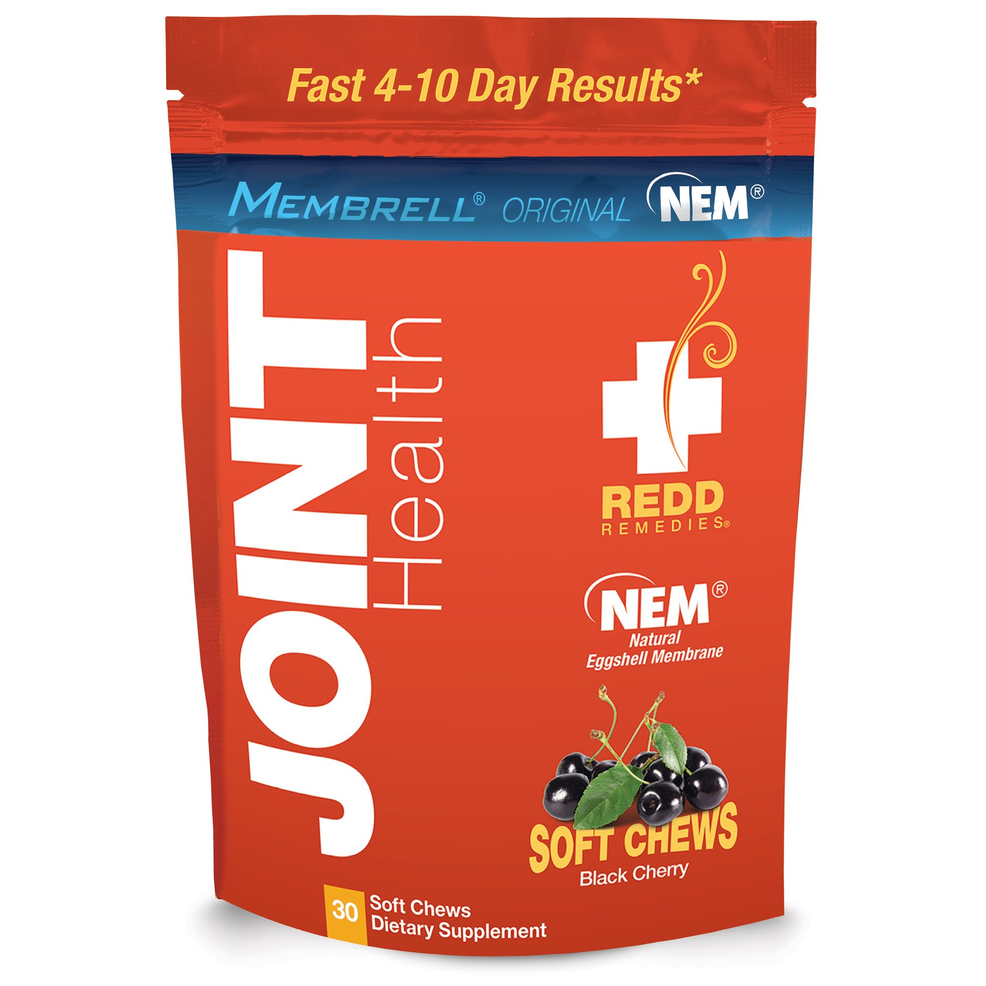Redd Remedies - Joint Health Original, Helps Strengthen Connective Tissue and Cartilage, Black Cherry, 30 Soft Chews