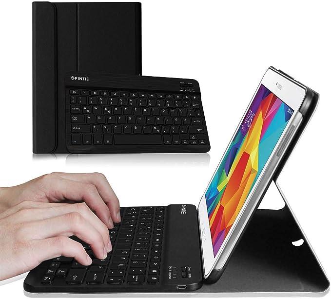Fintie Funda con teclado Bluetooth ultra delgada y liviana para Samsung Galaxy Tab 4 10.1 SM-T530 SM-T535 Galaxy Tab 10.1 4 1 Negro